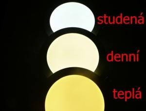 Různé barvy světlení